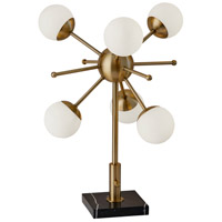 Adesso 4270-21 Doppler 23 inch 3 watt Antique Brass and Black Marble Table Lamp Portable Light