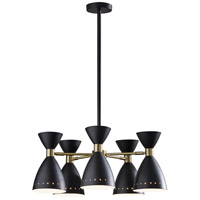 Adesso Black and Antique Brass Pendants