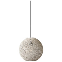 Havana 1 Light Cream Pendant Ceiling Light, Small