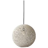 Havana 1 Light Cream Pendant Ceiling Light, Large