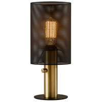 Adesso 4322-21 Nico 14 inch 60 watt Black and Antique Brass Table Lamp Portable Light