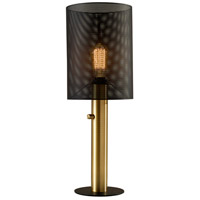Adesso 4323-21 Nico 22 inch 60 watt Black and Antique Brass Table Lamp Portable Light Tall
