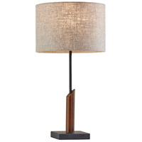 Adesso 5047-15 Ethan 23 inch 60 watt Black with Walnut Wood Table Lamp Portable Light