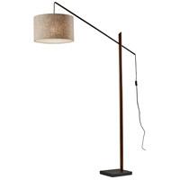 Adesso 5049-15 Ethan 77 inch 100 watt Black with Walnut Rubberwood Arc Lamp Portable Light