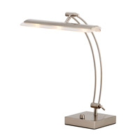 Adesso Esquire 1 Light Led Desk Lamp in Satin Steel 5090-22