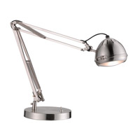 Adesso Sherlock LED Desk Lamp in Satin Steel 5140-22