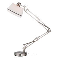 Adesso Grant Floor Lamp in Satin Steel 5142-22