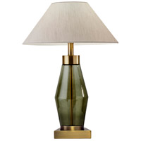 Murphy 24 inch 60 watt Antique Brass and Green Glass Table Lamp Portable Light