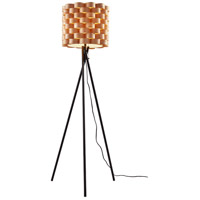 Savannah 62 inch 100 watt Matte Black Floor Lamp Portable Light