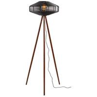 Adesso 5242-01 Kingston 56 inch 60 watt Walnut Wood and Black Rattan Floor Lamp Portable Light