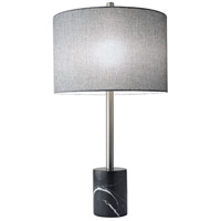 Adesso 5280-01 Blythe 28 inch 100 watt Brushed Steel Table Lamp Portable Light