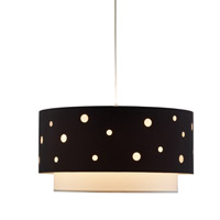 Adesso Starlight 1 Light Pendant in Black/White 6022-01