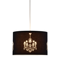 Adesso 6023-01 Opera 1 Light 18 inch Black Pendant Ceiling Light