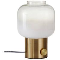 Adesso 6027-21 Lewis 12 inch 60 watt Antique Brass Table Lamp Portable Light