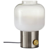 Adesso 6027-22 Lewis 12 inch 60 watt Brushed Steel with Antique Brass Accent Table Lamp Portable Light