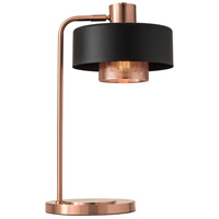 Bradbury 24 inch 60 watt Black and Brushed Copper Desk Lamp Portable Light