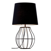 Adesso Lia 1 Light Table Lamp in Black 6138-01 photo thumbnail