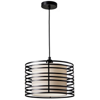 Reed 1 Light 14 inch Black Pendant Ceiling Light