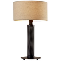 Adesso 6157-01 Benjamin 25 inch 60 watt Matte Black Perforated Metal Table Lamp Portable Light