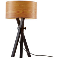 Bronx 27 inch 60 watt Black Wood Table Lamp Portable Light
