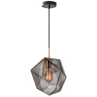 Haze 1 Light Black and Copper Pendant Ceiling Light