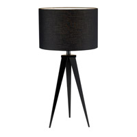 Adesso Director 1 Light Table Lamp in Black 6423-01