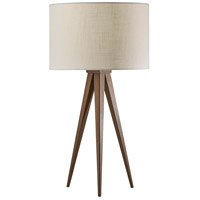 Adesso 6423-15 Director 26 inch 100 watt Metal with Rosewood Veneer Table Lamp Portable Light