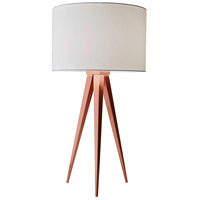 Director 26 inch 100 watt Brushed Copper Table Lamp Portable Light