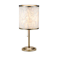 Adesso Papyrus 1 Light Table Lamp in Satin Steel 8003-22
