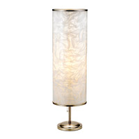 Adesso Papyrus 1 Light Tall Table Lamp in Satin Steel 8004-22 photo thumbnail