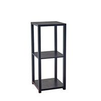Lawrence 28 X 12 inch Black Wood Pvc Veneer Short Pedestal