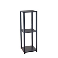 Lawrence 35 X 12 inch Black Wood Pvc Veneer Tall Pedestal