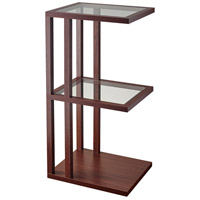 Adesso AR3519-15 Baxter 12 inch Walnut Wood End Table Home Decor