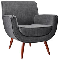 Adesso GR2000-10 Cormac Charcoal Grey Fabric Chair