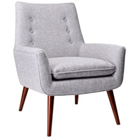 Adesso GR2001-03 Addison Light Grey Fabric Chair photo thumbnail