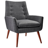 Adesso GR2001-10 Addison Charcoal Grey Fabric Chair