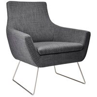 Adesso GR2002-10 Kendrick Charcoal Grey Fabric Chair