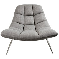 Bartlett Light Grey Soft Textured Fabric Chair Home Decor