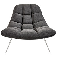 Bartlett Dark Grey Soft Textured Fabric Chair Home Decor