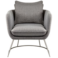Stanley Light Grey Soft Textured Fabric Chair Home Decor