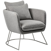 Adesso GR2005-03 Stanley Light Grey Soft Textured Fabric Chair