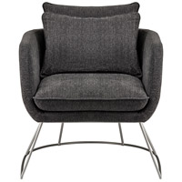 Stanley Dark Grey Soft Textured Fabric Chair Home Decor