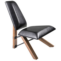 Hahn Black PU Leather Chair Home Decor