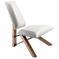 Hahn White PU Leather Chair