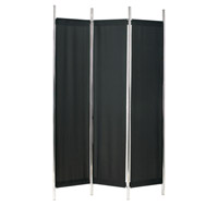 Adesso Rita Folding Screen in Black/Chrome HX1111-01