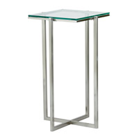 Adesso Glacier Medium Pedestal in Satin Steel HX1125-22 photo thumbnail