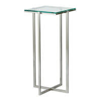 Adesso Glacier Tall Pedestal in Satin Steel HX1126-22 photo thumbnail