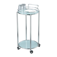 Adesso Cosmopolitan Bar Cart in Chrome/Frosted Glass HX4860-22 photo thumbnail