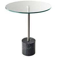 Blythe 18 inch Steel and Black Marble End Table Home Decor