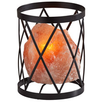 Adesso SL1148-12 Trust 8 inch 7 watt Black Metal & Pink Himalayan Salt Rock Himalayan Salt Table Lamp Portable Light Simplee Adesso